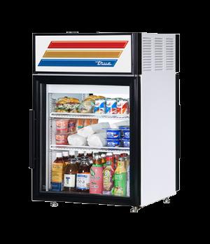 Countertop Pass-thru Refrigerated Merchandiser, (2) shelves, laminated vinyl ext