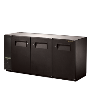 """Back Bar Cooler, three-section, 24"""" deep, 34-1/4"""" high, (84) 6-packs or (3) 1/2"""