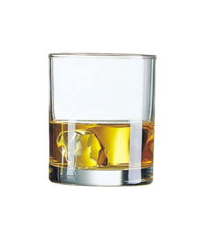 Old Fashioned Glass, 10-1/4 oz., fully tempered, glass, Arcoroc, Princesa (H 3-1
