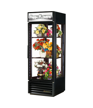 Floral Merchandiser, one-section, True standard look version 01, (2) shelves, bl