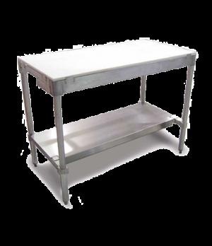 "(14358) Polytop Table Frame, 30""D x 48""W, with undershelf, aluminum frame"