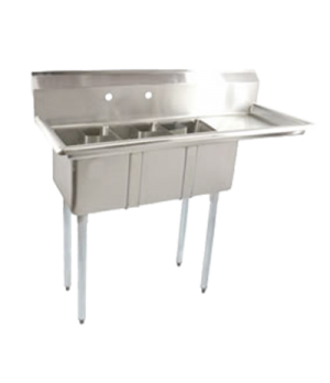 "(43757) Convenience Store Sink, three compartment, 48-5/8""W x 19-1/2""D x 43-3/4"""
