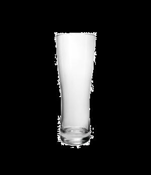 "Pilsner Glass, 16 oz., Arcoroc, Oslo (H 8""; T 2-7/8""; B 2-7/8""; M 2-7/8"")"
