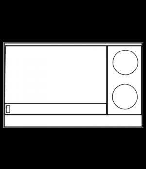 "Restaurant Range, electric, 48"", (2) round elements, (1) 36"" thermostatic griddl"