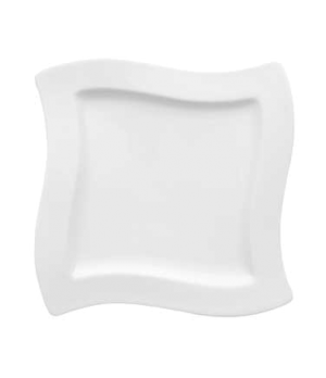 "Salad Plate, 9-1/2"", square, premium porcelain, New Wave"