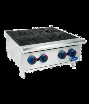 "Chefmate™ 24"" Hot Plate, 4 burner, heavy-duty cast iron grates, 25,000 BTUs per"