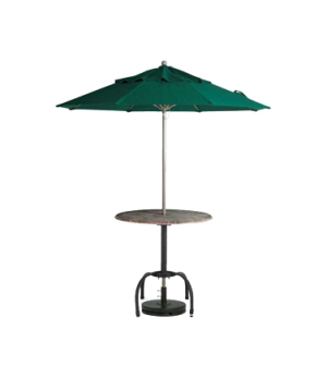 "Windmaster Umbrella, 9 ft., 1-1/2"" aluminum pole, replaceable fiberglass ribs, f"