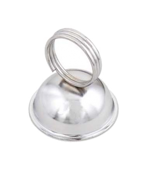 "Menu/Card Holder, 2-1/4"" base x 2-1/2""H, nickel plated clip, steel base"