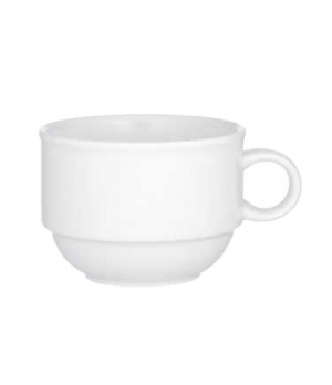 Cup #2, 7-1/2 oz., stackable, premium porcelain, Corpo White