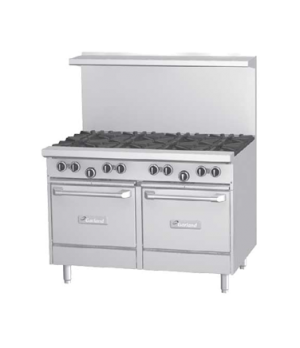 "G Starfire Pro Series Restaurant Range, gas, 48"", (2 33,000 BTU open burners, wi"