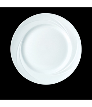 "Plate, 10"" dia., round, Distinction, Alvo, Alvo White (Canada stock item) (minim"