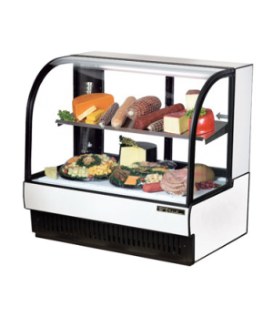 "Curved Glass Display Case (COLD DELI), 50-7/8""L, self-contained refrigeration, 5"