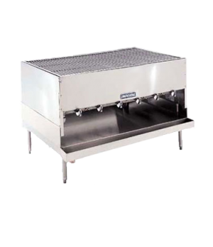 "Chicken Charbroiler, gas, countertop, 60"", (6) radiant ""H"" burners, round rod gr"