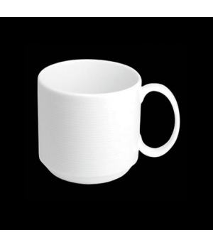 """Mug, 10 oz., 4-5/8""""W x 3-3/8""""H, stackable, porcelain, Tria, Wish (minimum = case"""