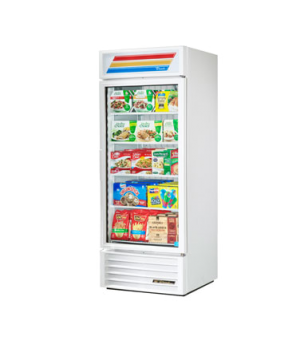 Freezer Merchandiser, one-section, -10° F, (4) shelves, white exterior, trim, an