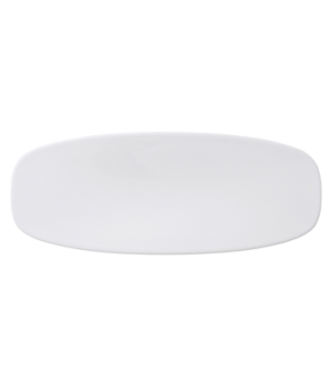 "Plate, 18-3/4"" x 5-3/4"", oval, coupe, premium porcelain, Affinity"