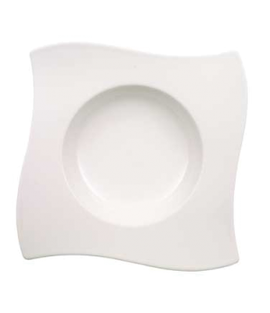 "Rim Soup Plate, 10-1/4"" x 10-1/4"", 11-3/4 oz., deep, premium porcelain, New Wave"