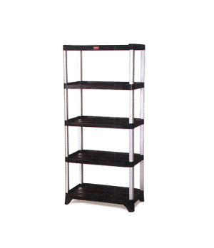 "Xtra™ Shelving unit, 71-3/8"" H x 35-1/8"" L x 20"" W, (5) solid polymer shelves wi"