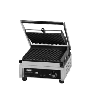 "Multi Contact Grill, 10"", single, grooved top & bottom plate, adjustable thermos"