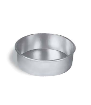"Cake Pan, 10"" dia., 3"" deep, solid, 14 gauge aluminum"