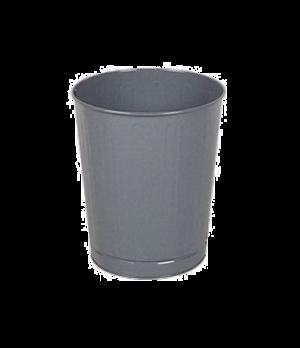 "Steel Wastebasket, 13-1/2"" dia. x 14-1/2"" H, 26 quart capacity, open top, black,"