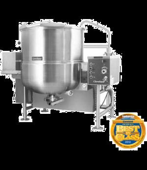 Gas-fired, tilting, horizontal agitator mixer kettle, 100 gallons working capaci