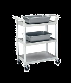 "Service Cart, open design, three shelves, shelf size approximately 15"" x 24"", po"