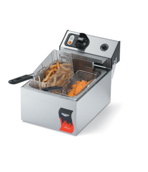 Fryer, countertop, electric, single fry pot, 10 lb, fat capacity, twin basket, 1