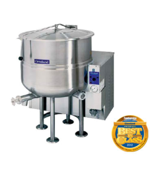 Kettle, Gas, Stationary, 100-gallon capacity, 2/3 steam jacket, self-contained,