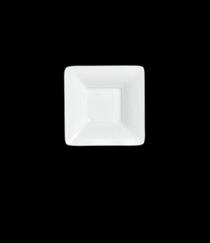 """Amuse Bouche Plate, 2 oz., 4"""", square, porcelain, Rene Ozorio Aura (Canada stock"""