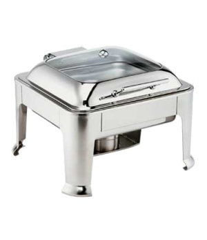 Symphony Chafer, 7 qt., 2/3 size, square, self-closing cover with glass view, st