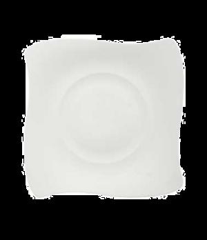 "Plate, 9-1/2"" x 9-1/2"", flat, premium bone porcelain, New Wave Premium (Special"