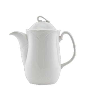 (2073) Horizons Silhouette Coffee Pot, 24 oz. (70.0 cl), with lid, embossed, fin