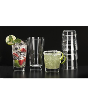 Double Old Fashioned Glass, 12 oz. (355ml), stackable, heavy sham, stackable, he