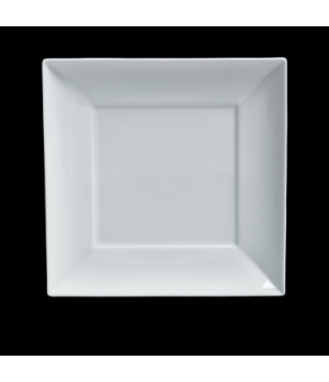 "Plate, 6-3/4"", square, porcelain, Duo, Rene Ozorio (USA stock item) (minimum = c"