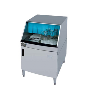"Glasswasher, underbar type, rotary design, 25"" cabinet, 1200 glasses/hr, 12"" gla"
