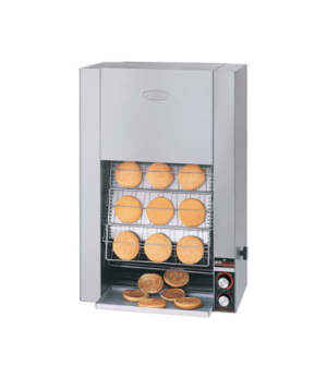 Toast King® Conveyor Toaster, vertical conveyor, countertop design, bun toaster,