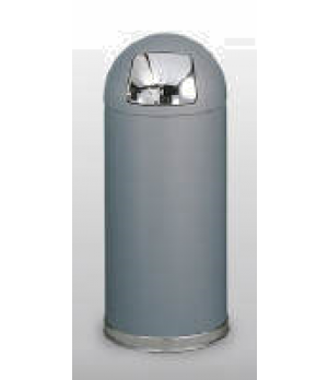 "Crowne Collection Waste Receptacle, 15 gallon, 15"" dia. x 36"" H, round top, rigi"