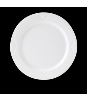 "Plate, 10-5/8"" dia., round, Distinction, Bianco, Noir (USA stock item) (minimum"