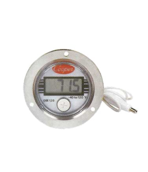 "Thermometer, electronic panel type, 2.97"" x 1.08"" (7.6cm x 2.7cm) -40 to 120°F/-"