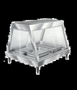 Glo-Ray® Heated Display Case, countertop, see-thru design, (2) pan single shelf,