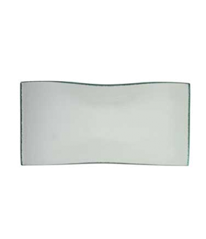 "Plate, 8-1/4"" x 4-1/8"", rectangular, glass, Cera"