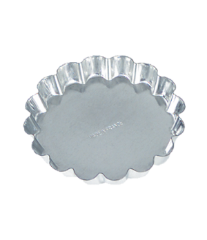 "Tartelette Mould, 2-2/5"", fluted, tin"