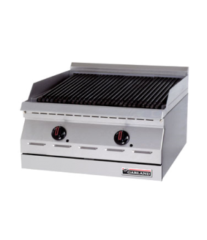 "Designer Series Charbroiler, countertop, gas, 24"" W, cast iron radiants, peizo s"