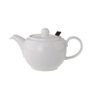 Teapot, 50-3/4 oz., with filter, white, premium porcelain, Universal