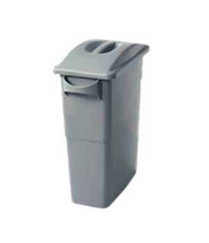 Slim Jim® Waste Container/Top Combo, (1) 3541 light gray, (1) 2688-88 light gray