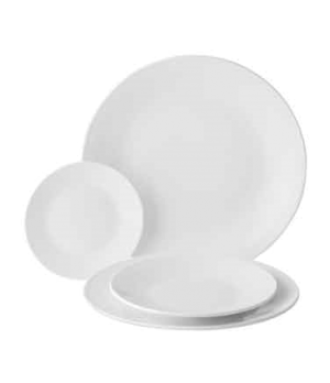 "Plate, 8-1/4"" (21 cm), round, coupe, porcelain, microwave and dishwasher safe, e"