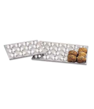 "Muffin/Cup Cake Pan, 20.6"" x 14-1/10"" x 1-1/5"", holds 24 cups, top cup 2-3/4"", b"
