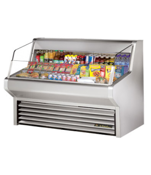 "Horizontal Air Curtain Merchandiser, 60""L, 43-3/8""H, stainless steel exterior &"