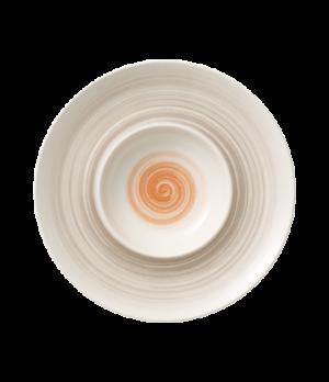 """Plate, 11-1/4"""" dia. (5-1/2"""" dia. well), 10-3/4 oz., round, deep, premium porcela"""